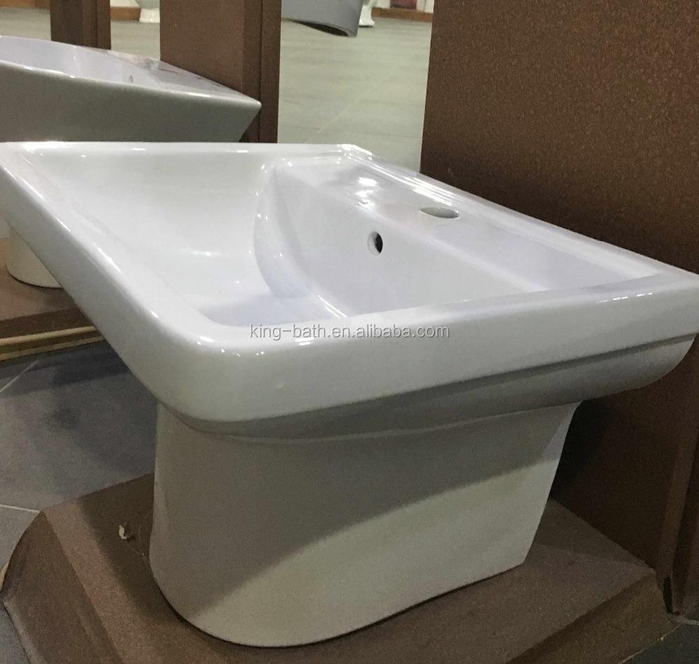 Gemonteerd wastafel, badkamer voetstuk, keramische luxe ontwerp ...