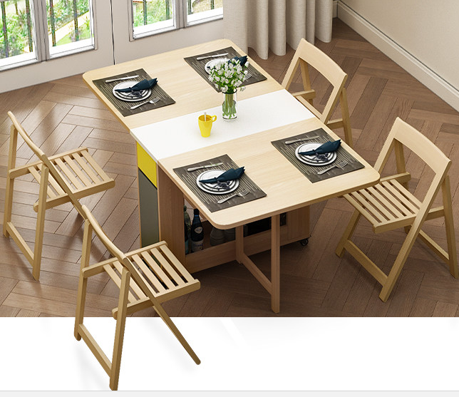 Japanese Furniture Folding Dinning Table Modern Dining Extension