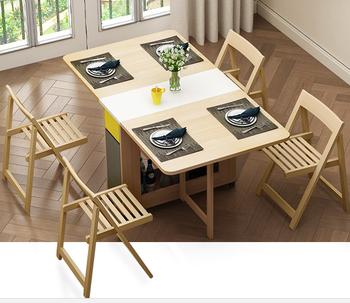 Japanese Furniture Folding Dinning Table Modern Dining Extension