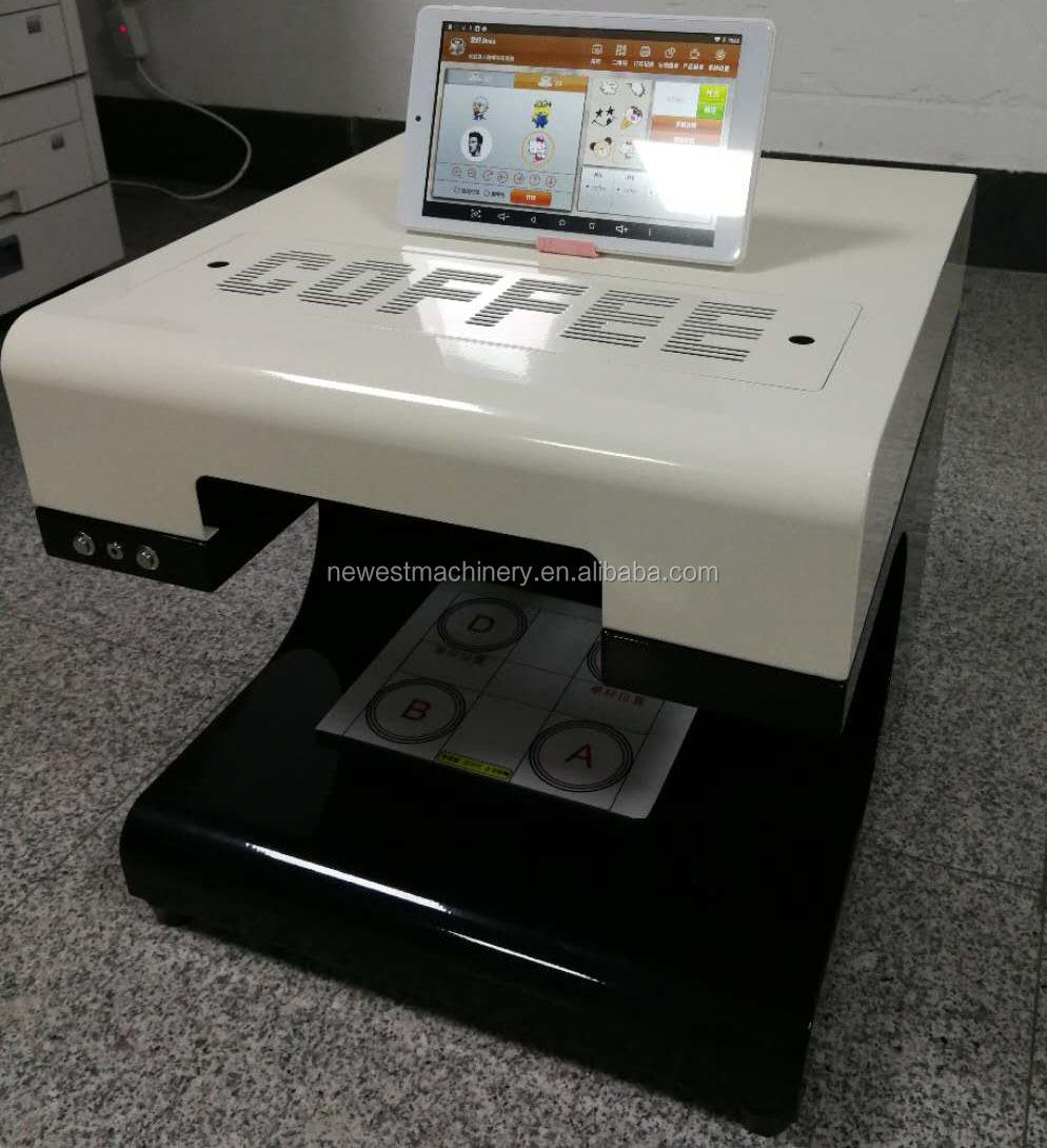 อาหารเกรดลาเต้ศิลปะกาแฟเครื่องพิมพ์/เค้กกินเครื่องการพิมพ์/ดิจิตอลกาแฟพิมพ์เครื่อง