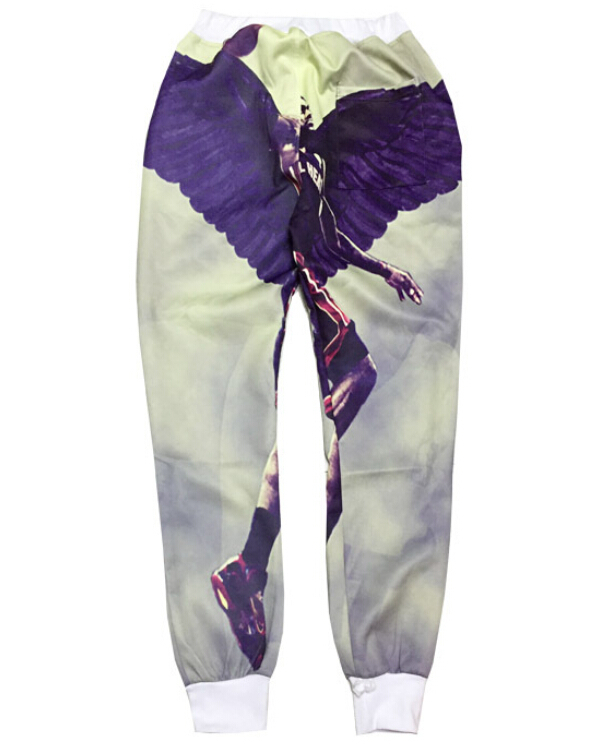 mens joggers 3d sweatpants Unisex Outdoor sports pants James Angel Wings Print jogging pants pantalones size M-XXL Free shipping
