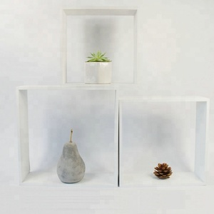 HOT wooden decorative floating wall shelf
