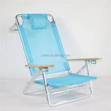 Folding lounge backpack Child Aluminum Beach Chair For Heavy People