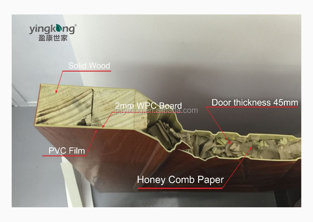 YK-621interior/exterior swing door, Natural door skin, NOT MDF/HDF/LOW COST door