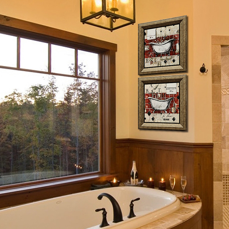 Large Waterproof Picture Frames For Bathroom Cheap Vintage