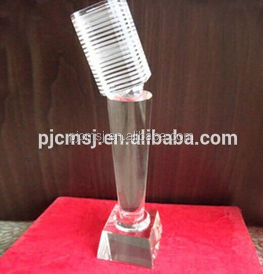 crystal microphone award for music souvenir