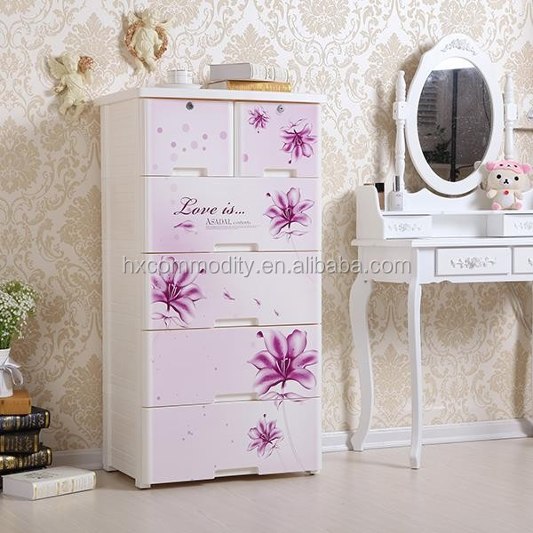 4layer Shantou Baby Plastic Drawer Cabinets Wholesale Baby Cupboard