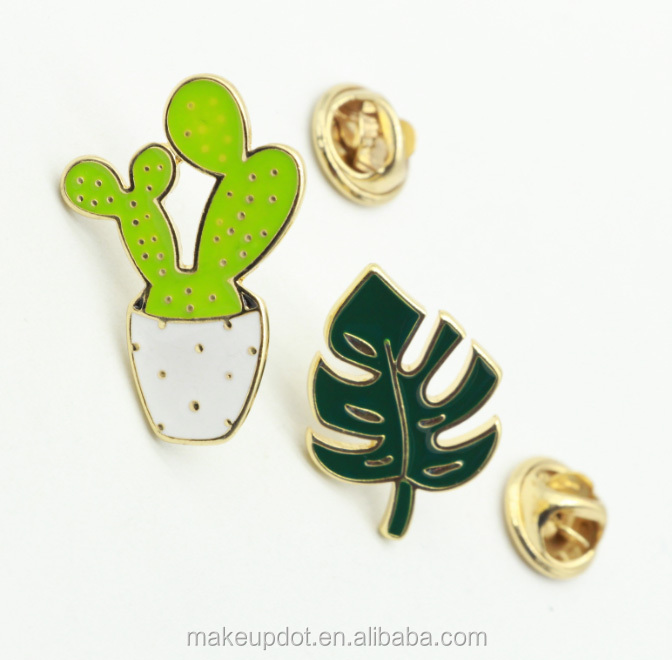 Hot Sale High Quality Gold Plating Cactus And Leaf Customized Enamel Lapel  Pin - Buy Customized Enamel Pin,Cactus Enamel Pin,Leaf Lapel Pin Product on