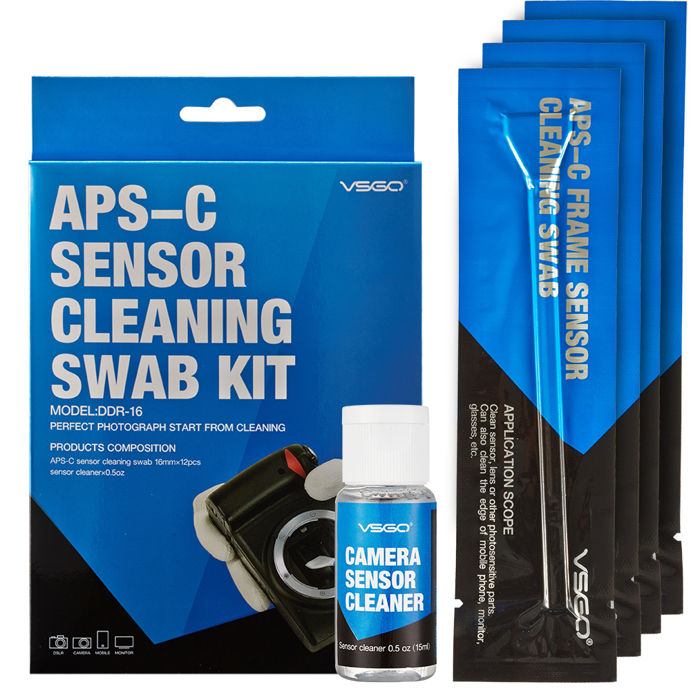 Dslr Sensor Cleaning Swabs Kit 12pcs With Liquid Cleaner