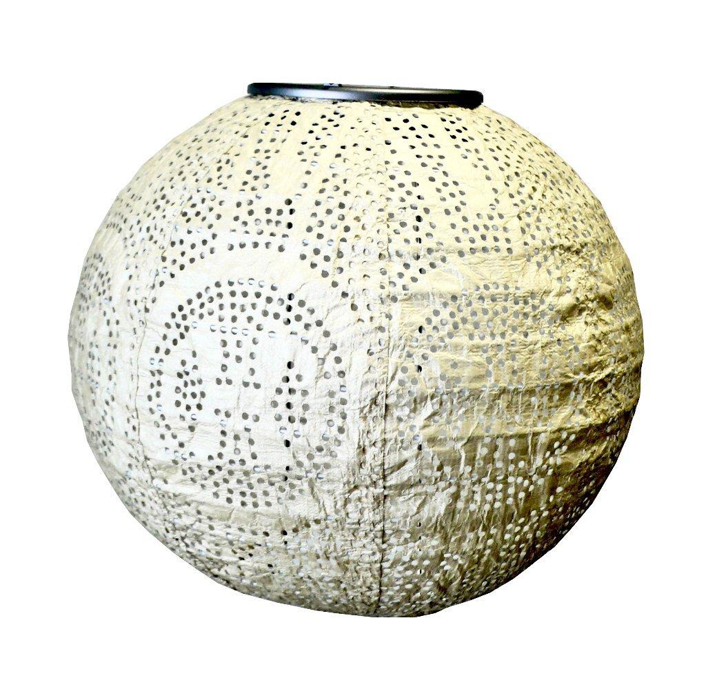 Get Quotations · Allsop Home And Garden Soji Stella Pearl Globe LED Outdoor  Solar Lantern, Handmade With Weatherproof