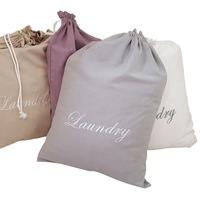 Hanging wholesale 100% Organic Canvas handmade cotton laundry bag