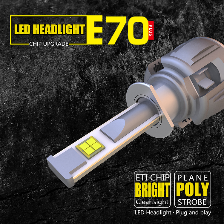 Factory Price 50W Aluminum White Cree XHP50 LED Headlight For Cars