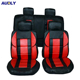 Four Season Red Customized Full Set Car Seat Cover for SUV Truck Van