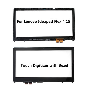 15.6 inch Digitizer Touch Screen wiith Frame for Lenovo Flex 4 15 Flex 4-1570 80SB