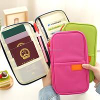 Women fashion travel passport case wallet, ticket and receipt pocket