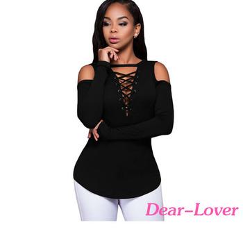 66c0e88a1bc182 Ladies Fancy Black Long Sleeve Cold Shoulder Ribbed Tops Wholesale Mumbai