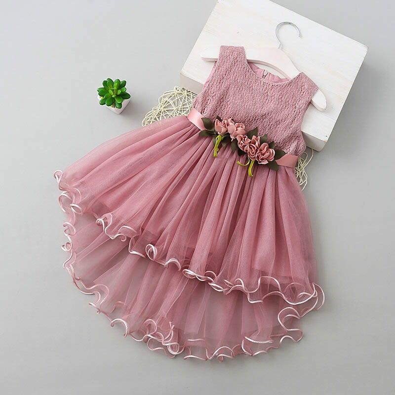 ee8762af47f4 New arrival high quality baby girl clothes dress baby party frocks girl  flower party dress 100