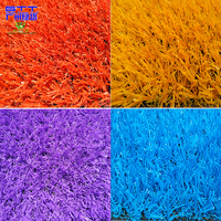 Rainbow Artificial Grass Coloured Synthetic Lawn Grass For Kindergarten