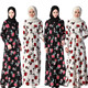 Muslim Dress Fashion Floral Print Abaya in Dubai Islamic Clothing For Women Maxi Dresses