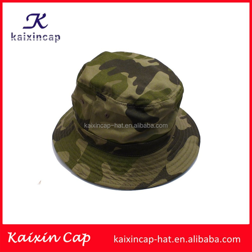 oem custom design/khaki colour/leather material waterproof/bucket cap