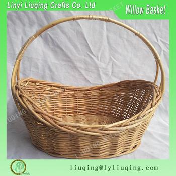 Factory Wholesale Oval Boat Shape Natural Willowwicker Basket Fruit
