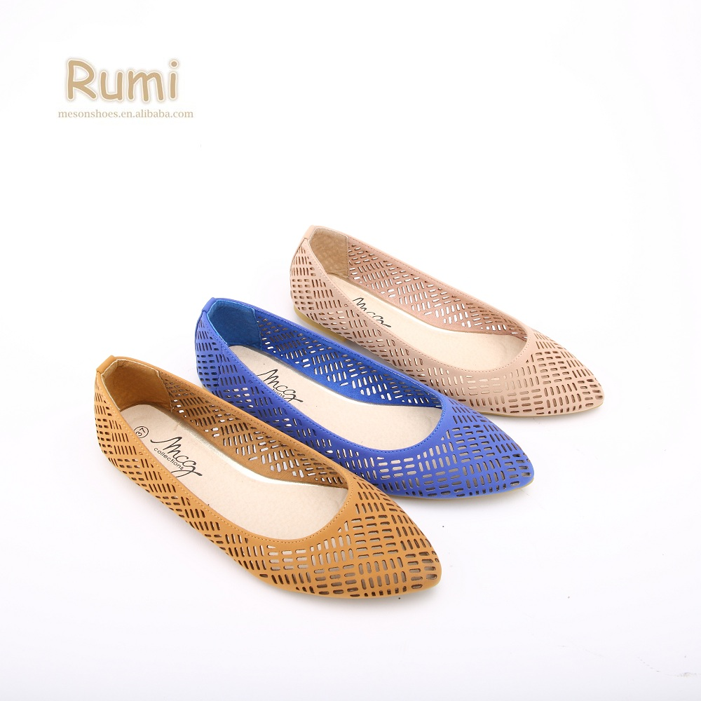 amazing selection the best attitude buying cheap Cheap Price Laser Cut Ladies Ballerina Style Flat Shoes For Women ...