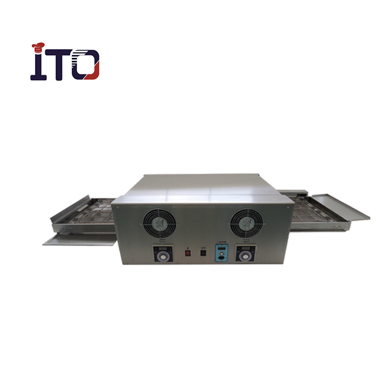 Commercial Baking Pizza Ovens, stainless steel electric conveyor pizza dome ovens