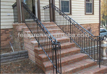 Exterior Wrought Iron Stair Handrail Fh 006 View Iron