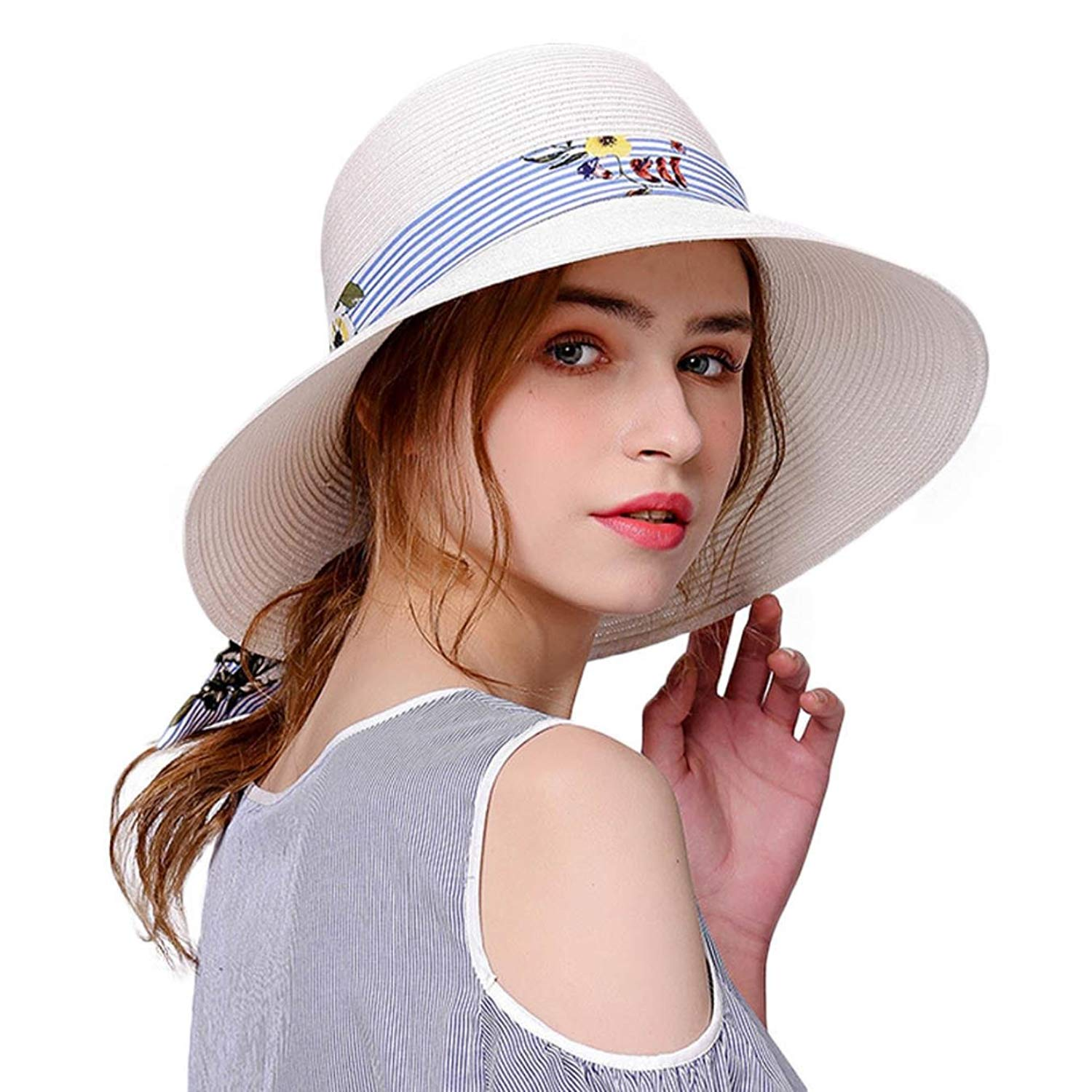 13be4d74bea Buy Straw Hat for Women Wide Brim Floppy Sun UV Beach Fashion Hats ...