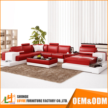 new model genuine leather customized sofa furniture pictures wood 8 seater sofa sets