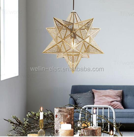 Diy Copper Moravian Star Pendant Light Fixture Wedding Prodect Decoration Hanging