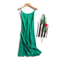 Сексуальное Ночное платье для женщин, искусственный шелк, атлас, ночная рубашка без рукавов с v-образным вырезом(Китай)