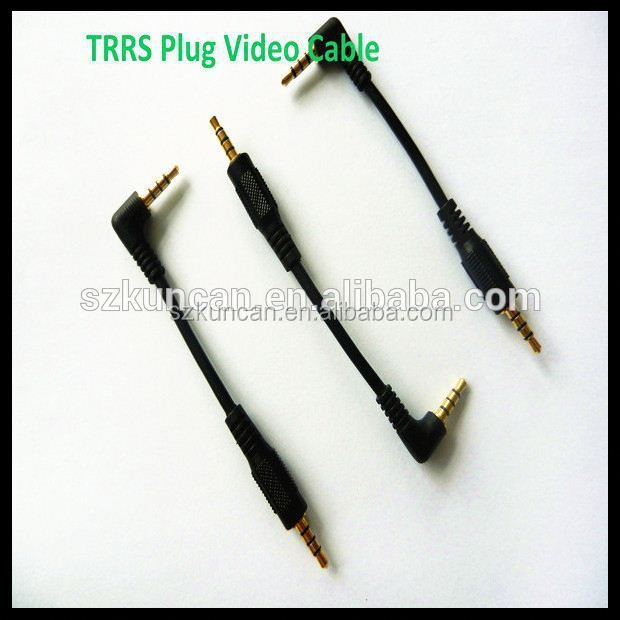 trs/trrs 3.5mm jack cable right angle 3 pole 4 pole audio cable