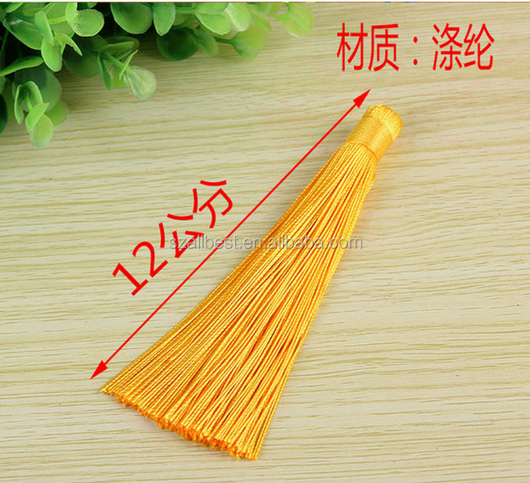 Manufacturer directly supply polyester tassel fringe/Factory direct sale tassel caps for jewelry