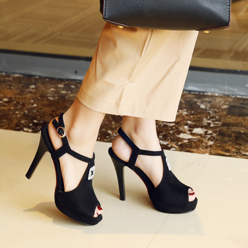 38fcc341febebc China Wholesale Latest Women Ladies Party Wear Fancy High Heel Summer  Sandals Shoes 2018 Fashionable