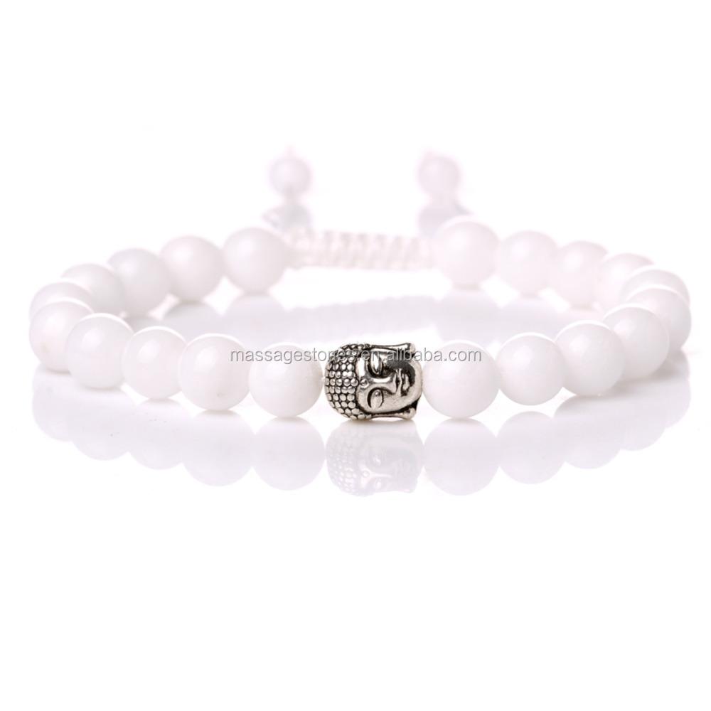 Pure White Jade Natural Positive Energy Bracelets