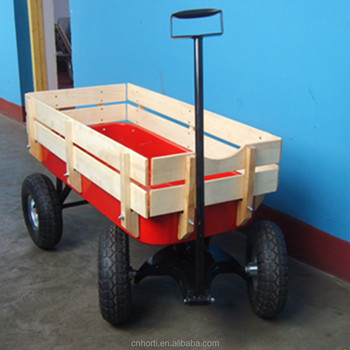 Small Wooden Kids Wagon Garden Cart