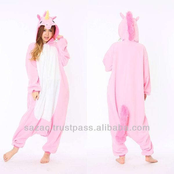 Vêtements carnaval animaux pour Dance Party Sazac licorne rose Costume Mascote Costume Pug kigurumis pour le