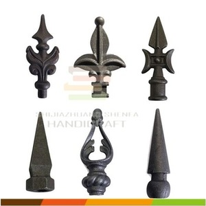 fence components cast iron spear tips, decorative fence inserts