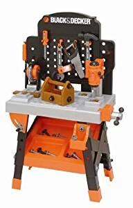 Black & Decker Kids Tool Set Toy Workshop Power Tools Box Bench Pretend Play