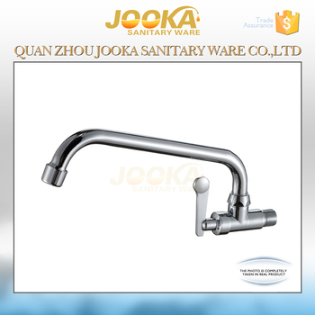 2017 Lever Handle Long Neck Wall Mounted Kitchen Sink Water Tap