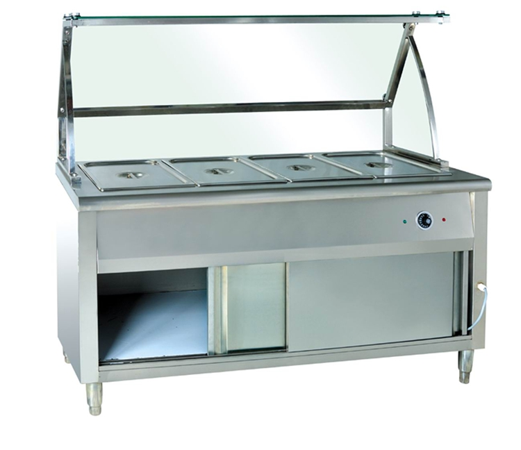 Commercial restaurant stainless steel kitchen equipment mobile buffet bain marie
