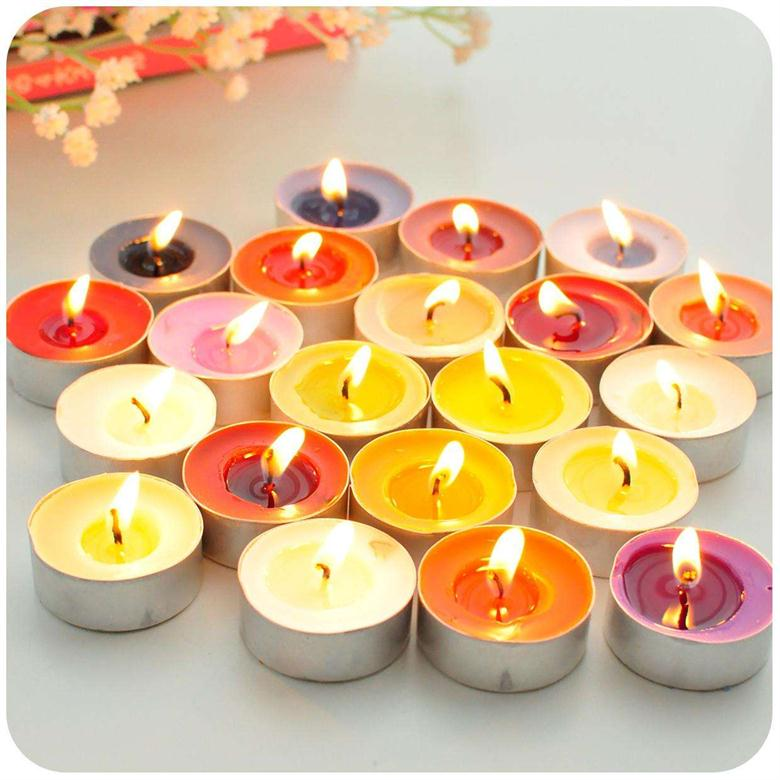 Candy Colored Flower Fragrance Home Decor High Qualilty Tealight Candle