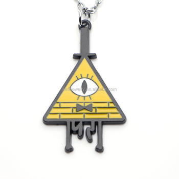 New Anime Gravity Falls Bill Cipher Boss Necklace Pendant Cosplay Jewelry  Collection - Buy New Anime Gravity Falls Necklace,Bill Cipher Boss