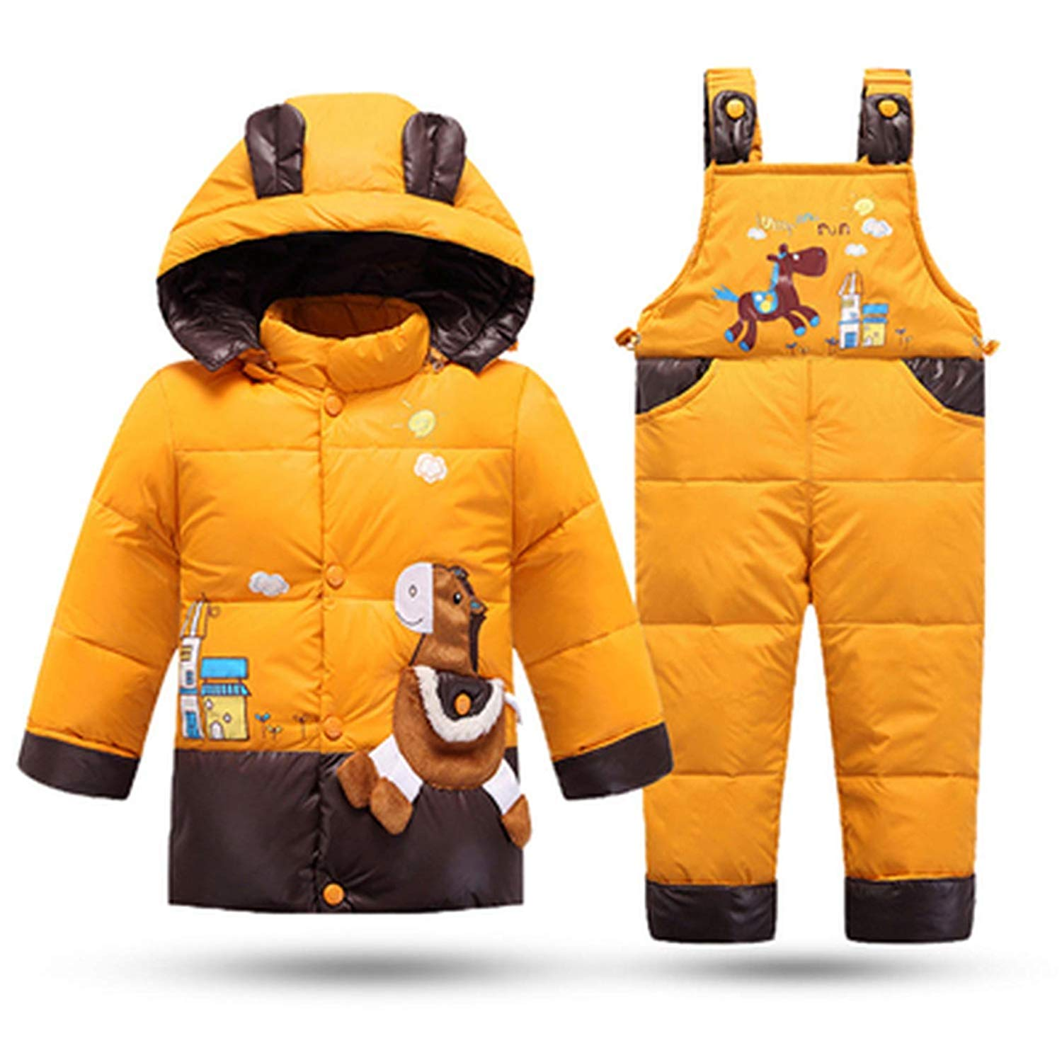 Mandaartins Snowsuit Baby Boy Down Jackets for Girl Kids Clothes Winter Coat Children Outerwear Clothing Set