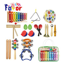 Amazon Hot Sale 14 Types Wooden Percussion Musical Instrument for Kids