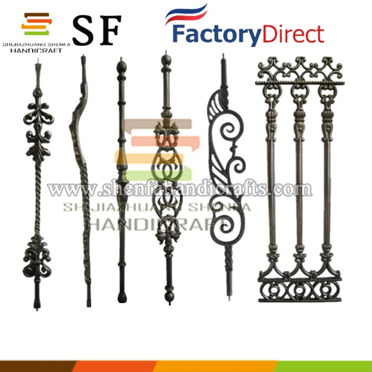 Fencing and gate curved cast iron flower picket baluster decoration