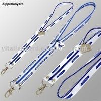 zipper lanyard/neck strap/name card strap