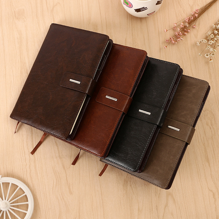 2017 a5 brown soft leather pocket diary notebook with pen