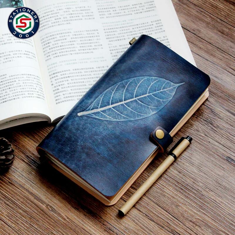 beautiful mini leaves travel journal agenda notebook
